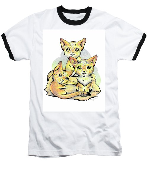 Endangered Animal Sand Cat Baseball T-Shirt