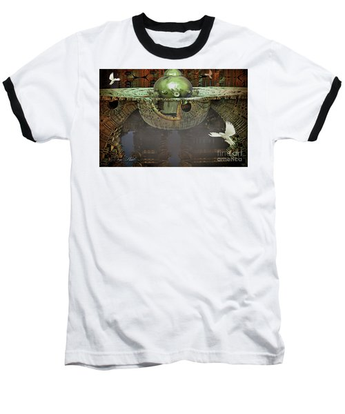 Engine Room Fractal Baseball T-Shirt