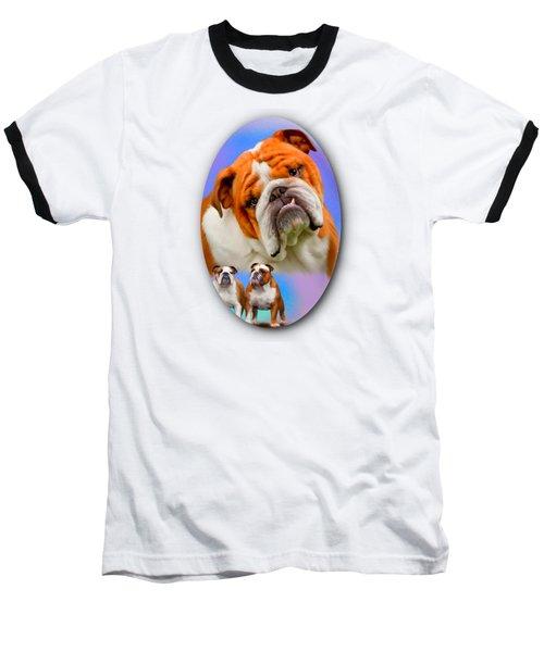 English Bulldog- No Border Baseball T-Shirt