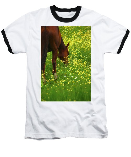 Baseball T-Shirt featuring the photograph Enjoying The Wildflowers by Karol Livote