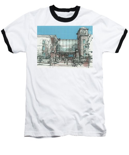 Entry Plaza Baseball T-Shirt by Andrew Drozdowicz