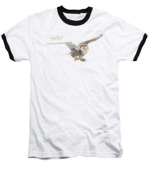 eRegal Studio Snowy Owl graphic Baseball T-Shirt