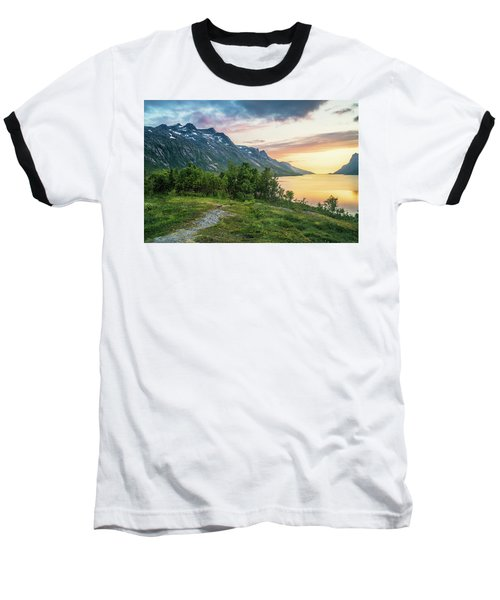 Ersfjord Sunset Baseball T-Shirt