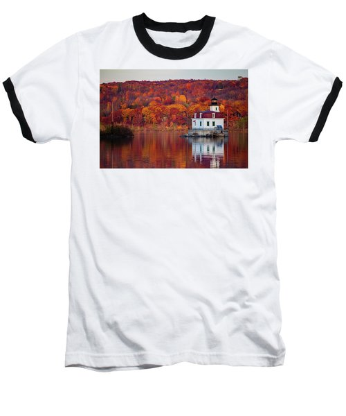 Esopus Lighthouse In Late Fall #1 Baseball T-Shirt by Jeff Severson
