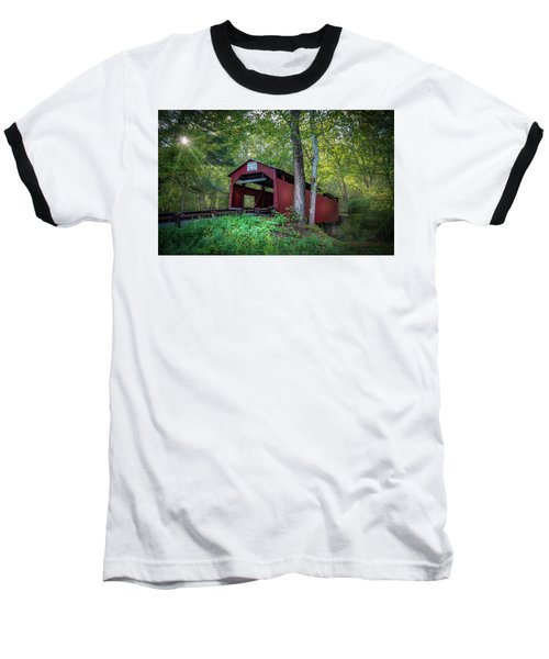 Baseball T-Shirt featuring the photograph Esther Furnace Bridge by Marvin Spates
