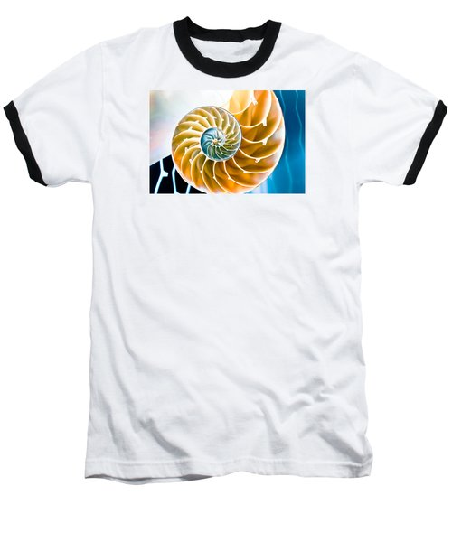 Eternal Golden Spiral Baseball T-Shirt