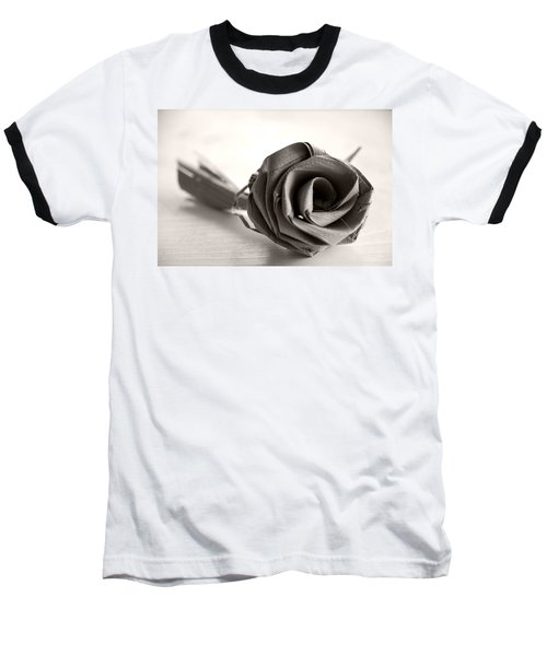 Eternal Rose In Sepia Baseball T-Shirt