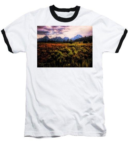 Evening At The Grand Tetons  ... Baseball T-Shirt