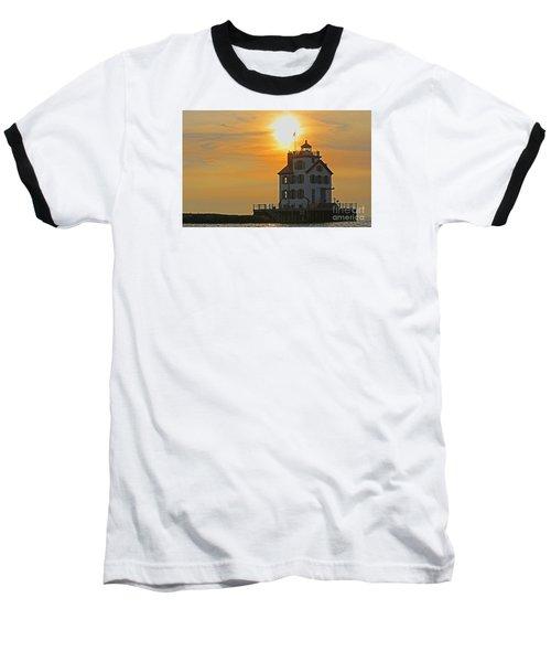 Evening Lighthouse 2 Baseball T-Shirt