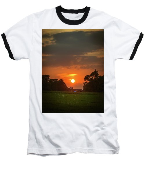 Baseball T-Shirt featuring the photograph Evening Sun Over Picnic by Lenny Carter