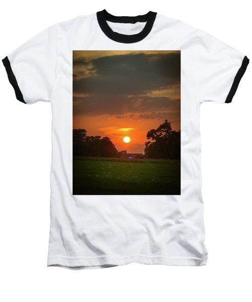 Evening Sun Over Picnic Baseball T-Shirt by Lenny Carter
