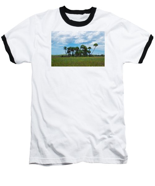 Everglades Landscape Baseball T-Shirt by Christopher L Thomley