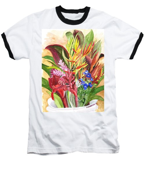 Everywhere There Were Flowers Baseball T-Shirt