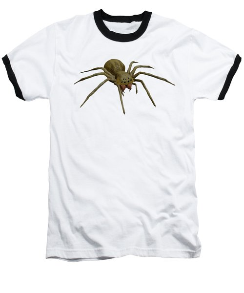 Evil Spider Baseball T-Shirt by Martin Capek