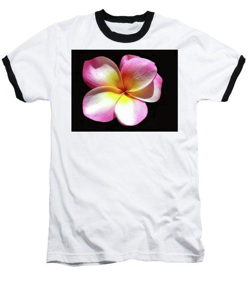 Exotic Plumeria Baseball T-Shirt