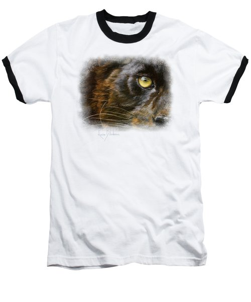 Eye Of The Panther Baseball T-Shirt by Lucie Bilodeau