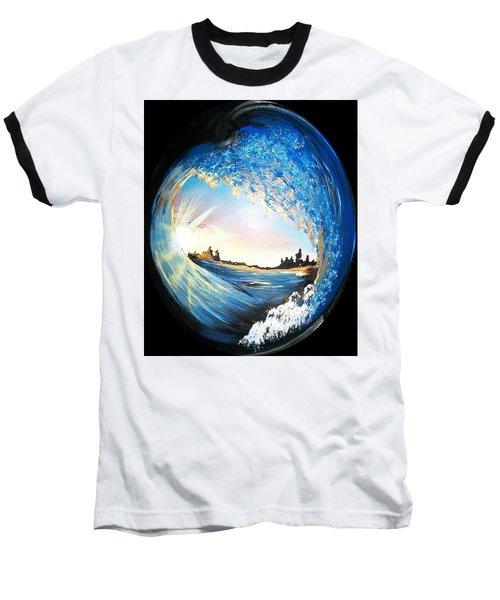 Eye Of The Wave Baseball T-Shirt