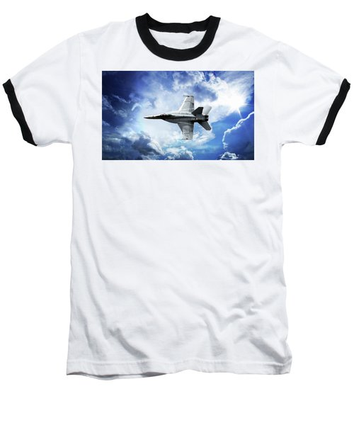 Baseball T-Shirt featuring the photograph F18 Fighter Jet by Aaron Berg