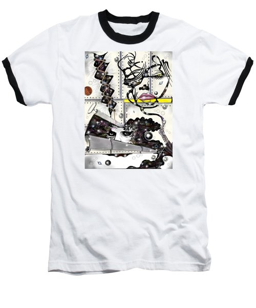 Faces In Space Baseball T-Shirt