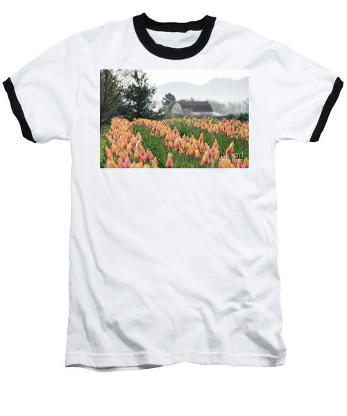 Faded Tulip Barn Baseball T-Shirt