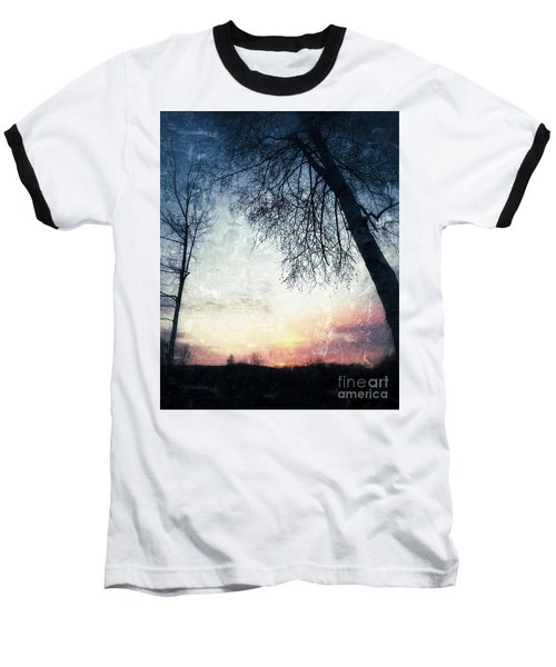 Fading Sunset Baseball T-Shirt by Jason Nicholas