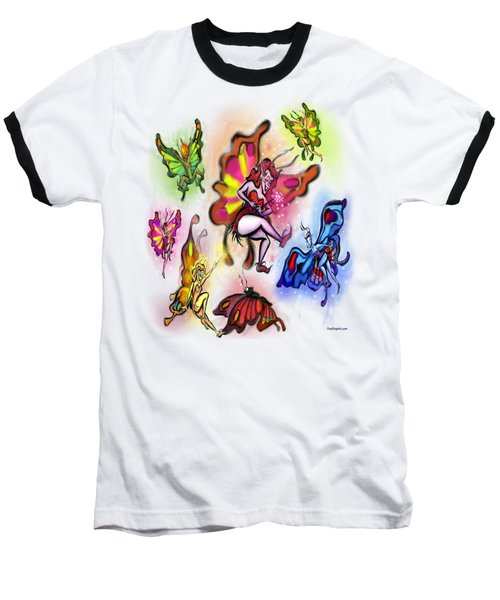 Baseball T-Shirt featuring the painting Faeries by Kevin Middleton