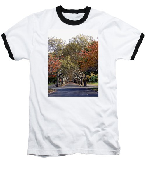 Fall At Corona Park Baseball T-Shirt by Suhas Tavkar