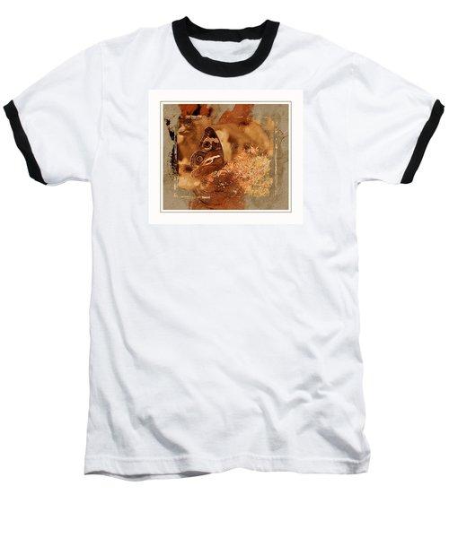 Fall Butterfly Baseball T-Shirt by Karen McKenzie McAdoo