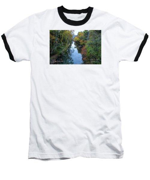 Fall Colors Along The Tallulah River Baseball T-Shirt by Barbara Bowen