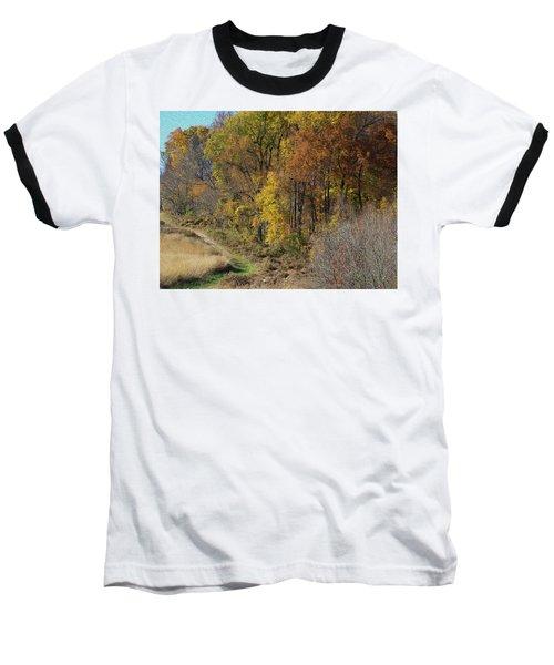 Fall Colors As Oil Baseball T-Shirt