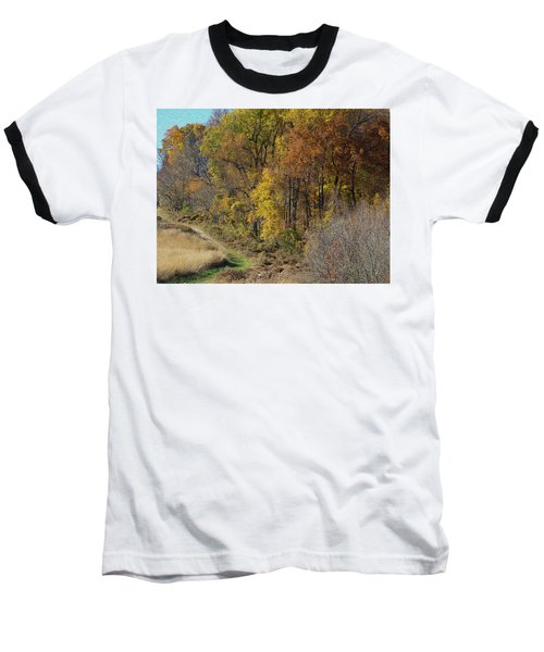 Fall Colors As Oil Baseball T-Shirt