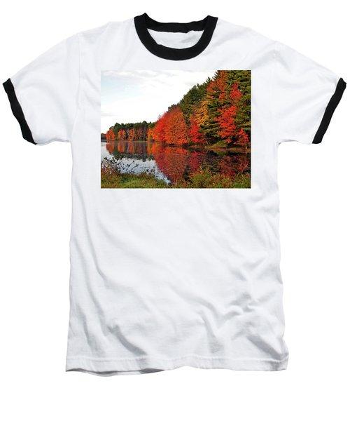 Fall Colors In Madbury Nh Baseball T-Shirt by Nancy Landry