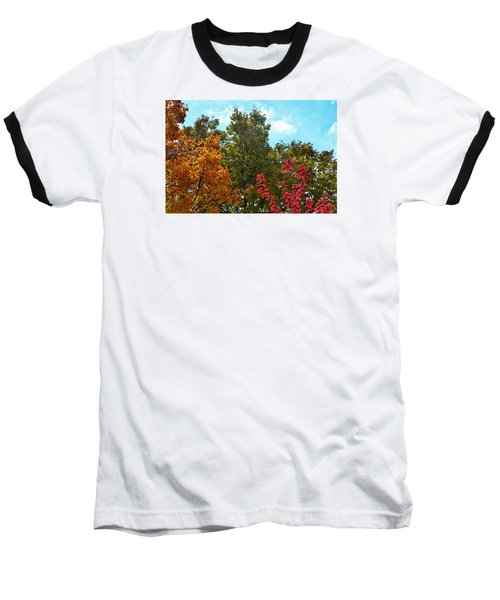 Baseball T-Shirt featuring the photograph Fall Colors by Nikki McInnes