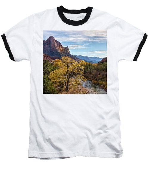 Baseball T-Shirt featuring the photograph Fall Evening At Zion by James Woody