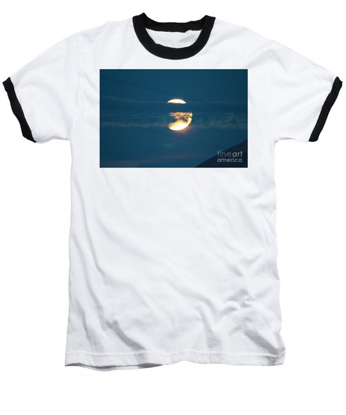 Fall Harvest Hunters Moon Eclipse  Baseball T-Shirt