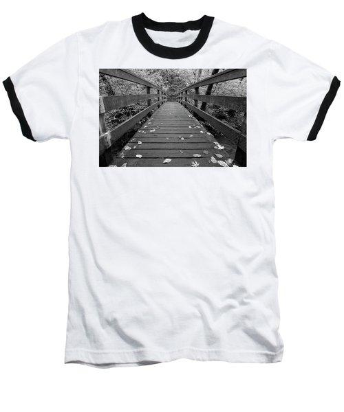 Baseball T-Shirt featuring the photograph Fall In Oregon Bw by Jonathan Davison