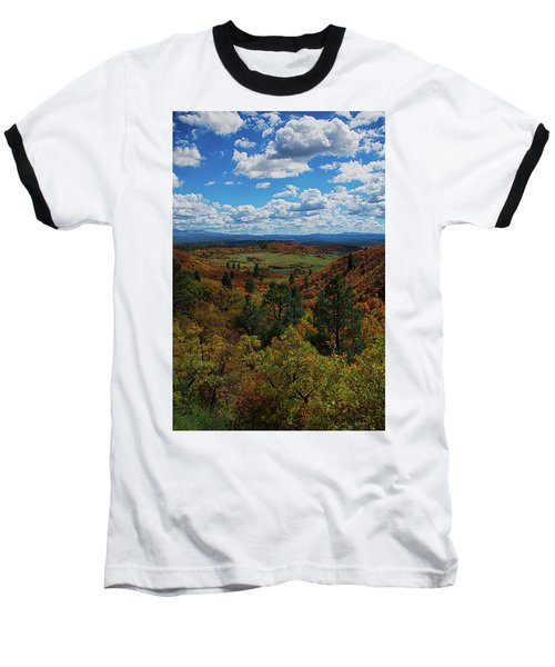 Fall On Four Mile Road Baseball T-Shirt by Jason Coward