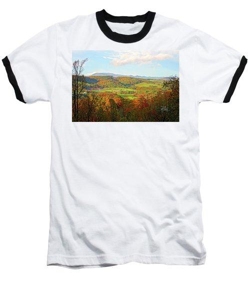 Fall Porch View Baseball T-Shirt