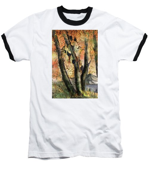 Baseball T-Shirt featuring the painting Fall Splendor  by Annette Berglund