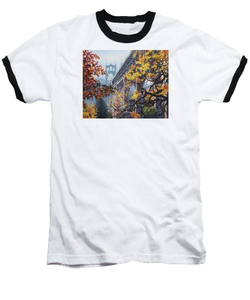Baseball T-Shirt featuring the painting Fall St Johns by Karen Ilari