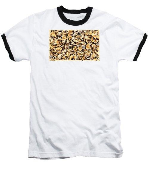Fallen Autumn Leaves Baseball T-Shirt