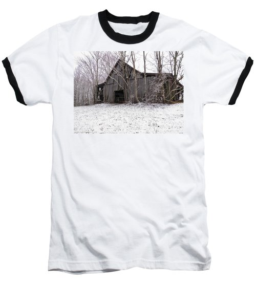 Falling Barn Baseball T-Shirt