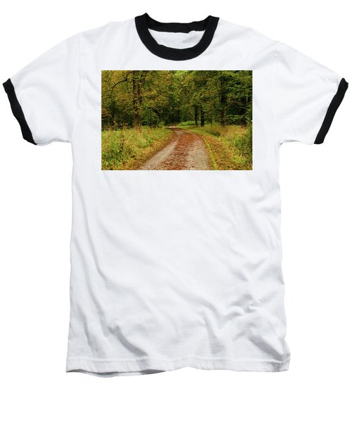 Falling Curves Baseball T-Shirt