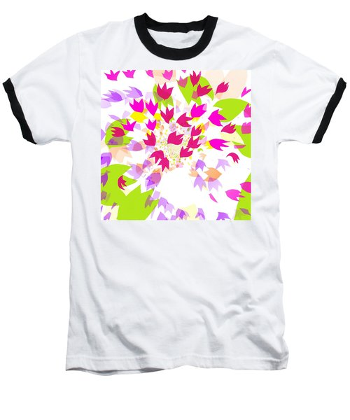 Baseball T-Shirt featuring the digital art Falling Leaves by Barbara Moignard