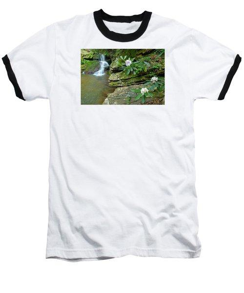 Falls On Catawba Creek Baseball T-Shirt by Alan Lenk