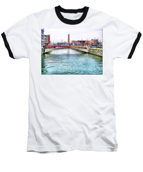Baseball T-Shirt featuring the photograph Fallswalk And Shot Tower by Brian Wallace