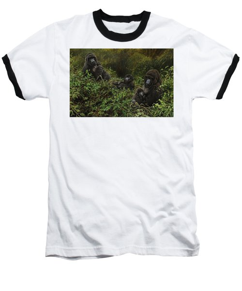 Family Of Gorillas Baseball T-Shirt