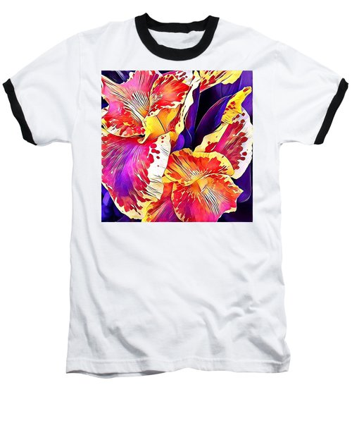 Baseball T-Shirt featuring the photograph Fanciful Canna  by Heidi Smith