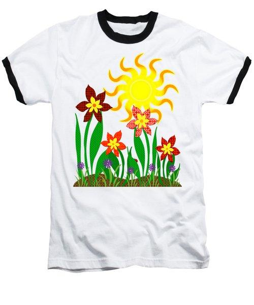 Fanciful Flowers Baseball T-Shirt