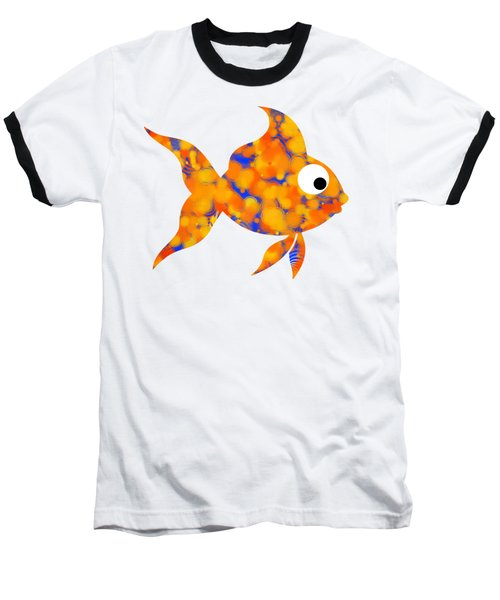 Fancy Goldfish Baseball T-Shirt by Christina Rollo